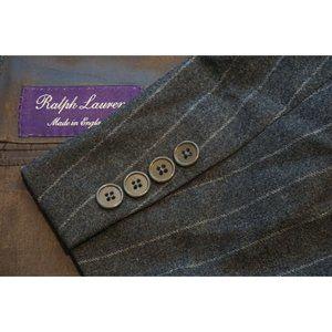 Ralph Lauren Purple Label RLPL Flannel Gray jacket